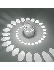 Plafondlamp, led-wandlamp, dimbaar, binnen, wandlamp, ganglamp, spiraal effect voor hal, slaapkamer, balkon, woonkamer, badkamer, trap, gang, plafondspot
