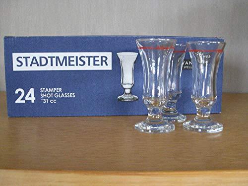 24 Schnapsglas Stamper Schnapsgläser 2cl mit Rotring Stadtmeister