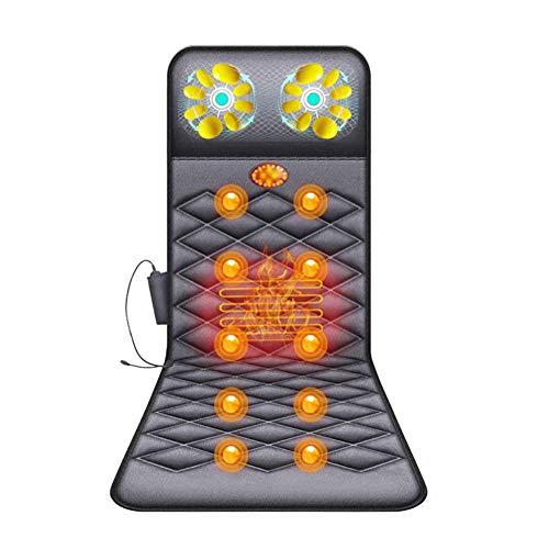 Q&Z Materassino Da Massaggio,Pieghevole Shiatsu Materasso Massaggiante Materasso Massaggiante Riscaldato Con 10 Motori Massaggiatore Per Tutto Il Corpo Allevia Dolore HSGAV