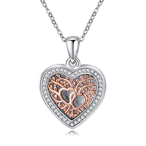 LONAGO 925 Sterling Silber Herz Medaillon Halskette Hohle Blattform Immer In Meinem Herzen Foto Medaillon Anhänger Halskette Schmuck