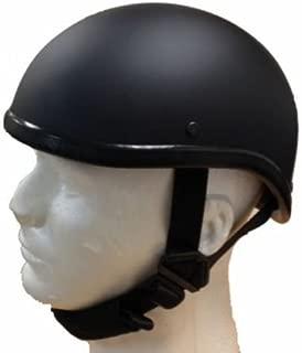 Gladiator Half Novelty Harley Motorcycle Helmet Skull Cap Flat Black Skid Lid (M, BLACK)