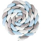 Cosy Casa Cushion Soft Knot Pillow Handmade Soft Cushion Decor for Bedroom(Blue-Grey, 158 inches)