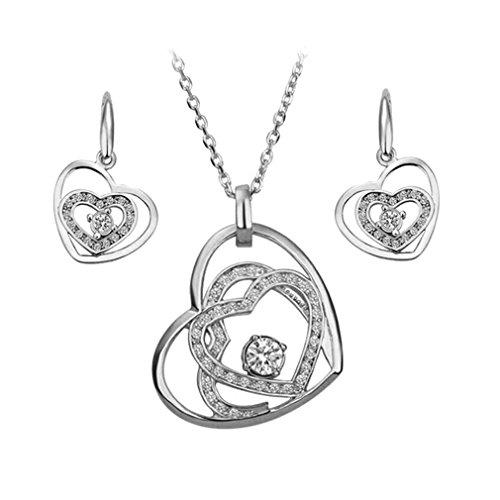 GYJUN Bijoux-Colliers décoratifs / Boucles d'oreille(Alliage)Mariage / Soirée / Quotidien / Décontracté Cadeaux de mariage , silver
