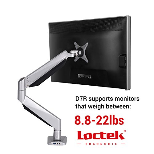 Loctek Monitor Mount Heavy Duty Single LCD Arm Stand Desk Mount...