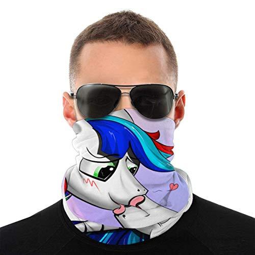 Nother Bandana antiviento con diseño de unicornio gay Kiss Love Heart