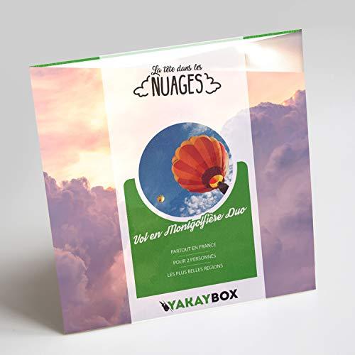 YAKAYBOX - Coffret Cadeau Vol en Montgolfière - Box Duo +30 Vols en Ballon sur des Sites d'exceptions - Baptême de l'Air pour Un Voyage Original en France Jusqu'à 3 h