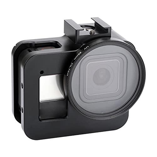 DAXINIU Funda Protectora de aleación de Aluminio for gopro héroe 8 Marco de Caja de Metal Negro Jaula + UV Filtro de Lentes for GoPro 8 Accesorios de la cámara (Colour : Black)