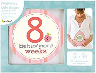 Pearhead Pregnancy Milestone Photo Sharing Belly Stickers