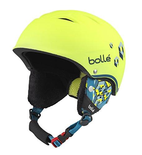bollé B-Free, Casco da Sci Unisex Bambino, Soft Neon/Yellow Blocks, 53-57 cm