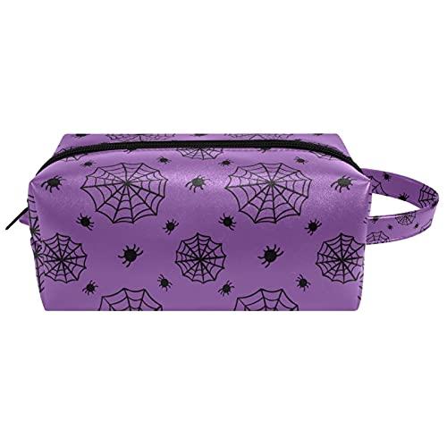 Bolsa de maquillaje portil de viaje para mujer Organizador de cosmicos con mango Neceser joyas Cepillos bolsa de Halloween telara, Multicolor 1 Neceser
