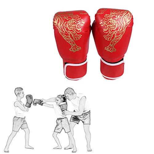 Yunjio Boxhandschuhe Kinder Box Handschuh Herren Boxtrainingshandschuhe Kickboxhandschuhe Boxsackhandschuhe Sparringhandschuhe Boxhandschuhe für Kampfkünste red-1,Child