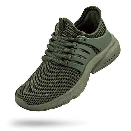Troadlop Kids Sneakers Mesh Breathable Running Tennis Shoes for Boys Green Size 3 M US Big Kid