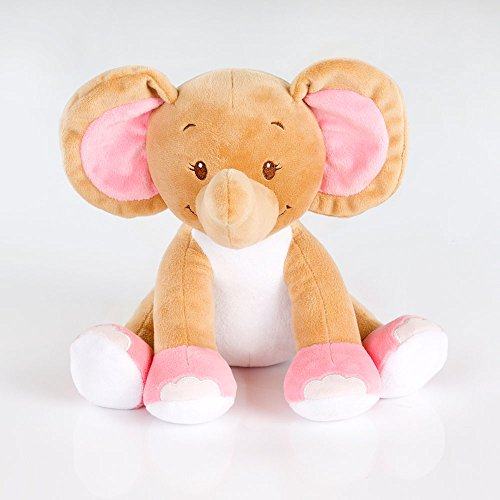 Kuschelige Spieluhr/Musikuhr/Einschlafhilfe in versch. Motiven und Melodien, Melodien:Lalelu, Spieluhren:Spieluhr Elefant Rosa