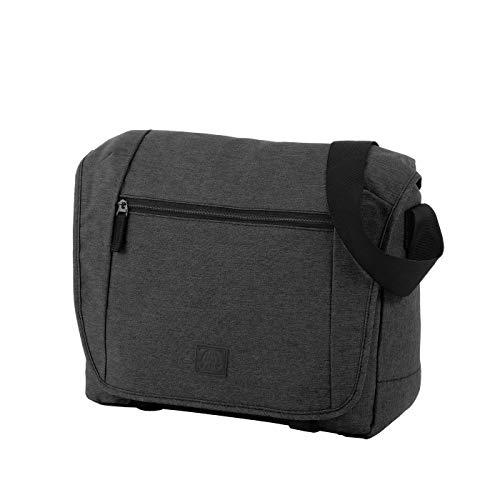 Rada Umhängetasche CT/2/L, Wasserabweisende Laptoptasche für Macbooks und Laptops bis zu 16 Zoll, Umhängetasche für Damen und Herren (Maße: 38x31x9cm) (grau schwarz)