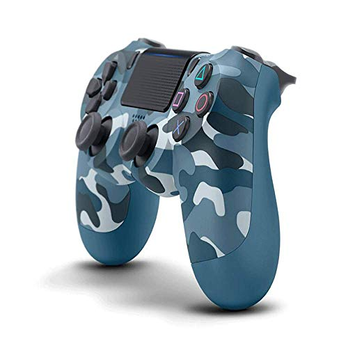 PS4-Controller PS4 / PC-Gamecontroller Vibrationsstreifenlicht Bluetooth Wireless Controller (Camouflage Blue)