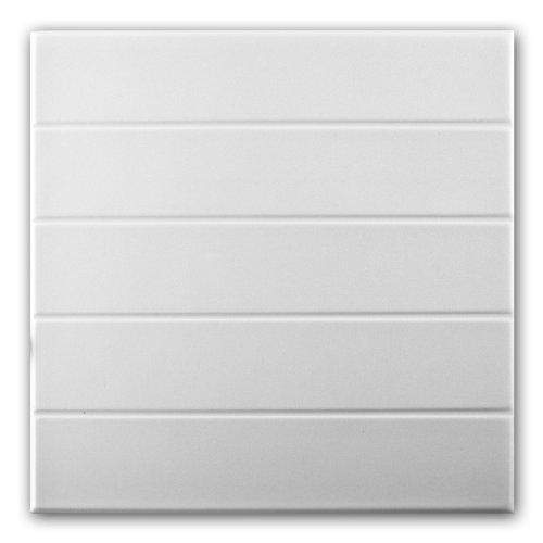 Azulejos de techo de espuma de poliestireno 0804 (paquete de 120 pc / 30 metros cuadrados) Blanco