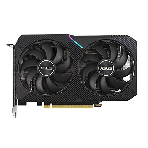 ASUS GeForce Dual RTX 3060 12GB V2 OC Edition Gaming Grafikkarte (GDDR6 Speicher, PCIe 4.0, 1x HDMI 2.1, 3x DisplayPort 1.4a, DUAL-RTX3060-O12G-V2)