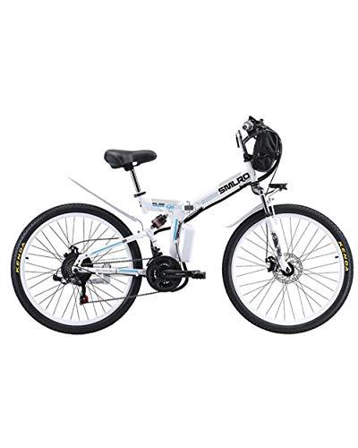 WXX 350W 26 Inchelectric Berg Bike48v 20Ah Folding Off-Road Mountain Bike 21-Level-Shift-Assisted Stadt Außen Bike,Blue 350w 8ha