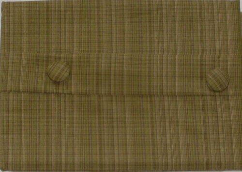 NorthCrest Home Golden Brown Hobbs Plaid Window Valance Tan Curtain Topper