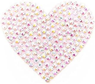 Heart shaped pubic decoration with rhinestones
