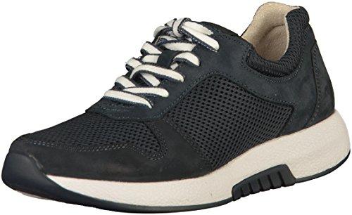 Gabor Gabor Damenschuhe 86.946.46 Damen Schnürhalbschuhe, Sneaker, Sommerschuhe, Optifit- Wechselfußbett Blau (Nightblue), UK 5