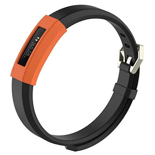 Luoshan Dispositivo Inteligente Inteligente de, Funda Protectora de Reloj de Silicona de Color sólido for Fitbit Alta/HR (Negro) (Color : Orange)