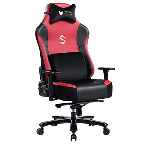 FANTASYLAB Massage Reclining Gaming Chair (Red)