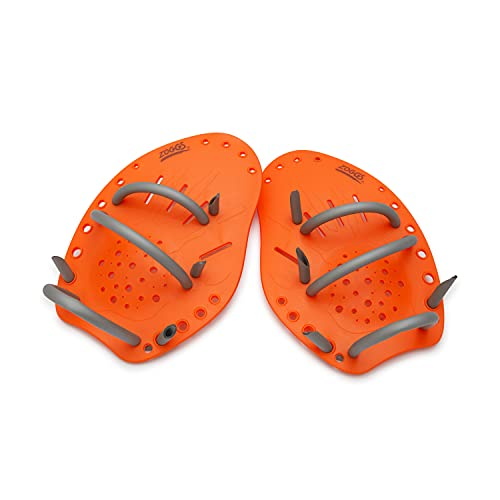 Zoggs Unisex-Adult Matrix Hand Paddles Medium Handpaddel für Schwimmer, Orange, M