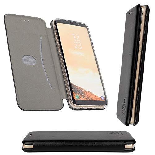 LG G5 3D Leather Case [RFID Blocking] [Shock Proof] [Card Slots] [Kickstand] Premium Genuine Wallet Flip Bumper - Black