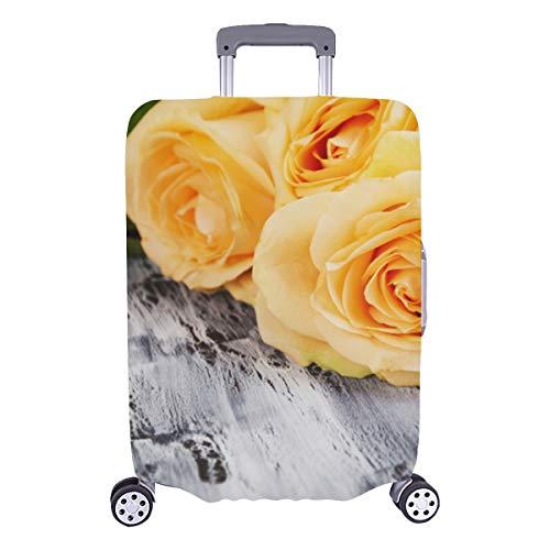 Protector de la cubierta de la maleta Rosa amarilla brillante Banquete Cubierta protectora lavable duradera Se adapta a 28.5 X 20.5...
