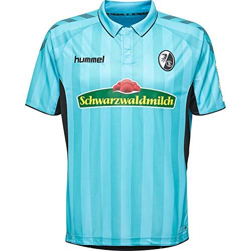 Hummel SC Freiburg Herren Ausweichtrikot 18/19-202369-8369 blau/schwarz, Größe:S
