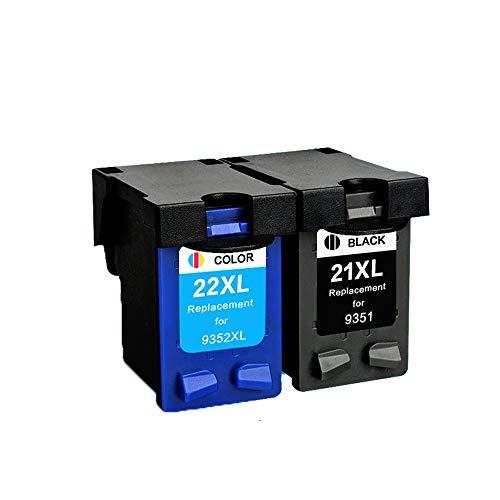 WXJ Reemplazo del Cartucho for HP 21 22 Cartucho de Tinta HP21 for HP DeskJet F2280 F2180 F4180 F300 F380 F2100 F2200 Impresoras (Color : 1BK 1C)