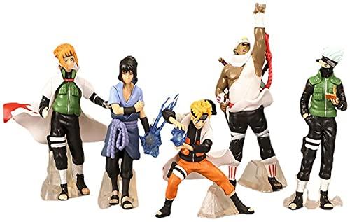 Figura de Anime Naruto Figura Juego de 5 piezas 12 cm Pvc personaje de dibujos animados de anime Escultura Juguete Colección de decoración de oficina en casa