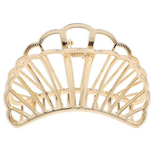 P Prettyia Haarkrebs Haarklammer Haarspange Claw Clips Klaue Clip Haarkneifer Haarschmuck für Dickes Haar - Gold