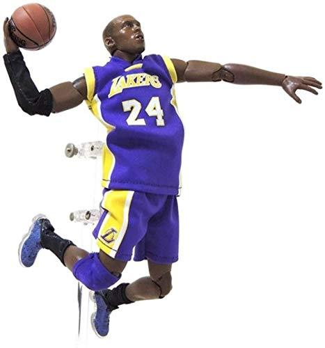 PsWzyze 22cm Anime Figura de Acción de Juguete Serie NBA Jordan Kobe James Curry Modelo Souvenirs Coleccionables Manualidades-Kobe