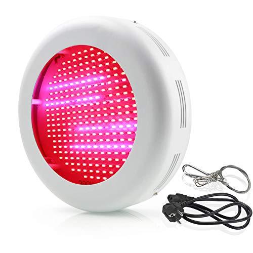 UFO Led Grow Light 300W Full Spectrum AC 100V to 220V UV & IR Plant Lights Grow Lamp for Indoor Greenhouse Plants, Hydroponics, Veg and Flower