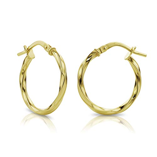 Orovi Gold Hoop Earrings for Women 18 ct /750 Yellow Gold