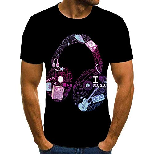 HGFHKL T-Shirt da Uomo a Tema Band 3D Rock Harajuku Top Moda Estiva Girocollo Camicia Hip Hop Abbigliamento Ragazzo Streetwear