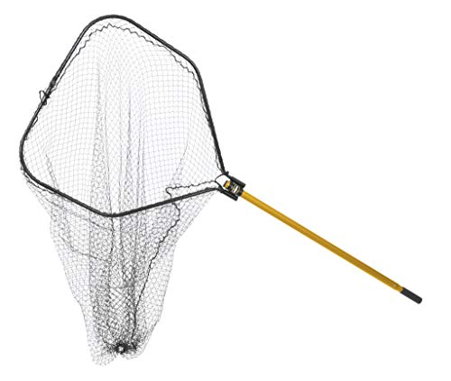 Frabill Power Stow 40-Inch by 44-Inch Folding Landing Net, 48-Inch to...