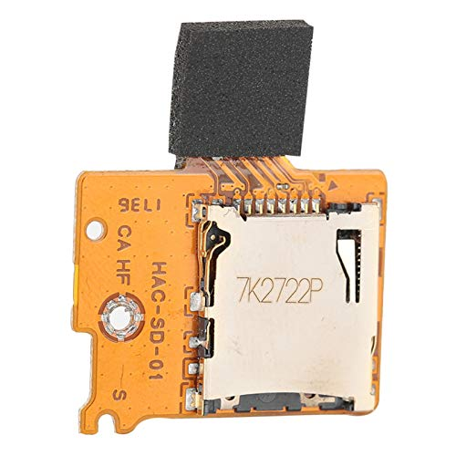 Mxzzand Fácil de Usar, Ligero, HAC-SD-01, Ranura antidesgaste, Piezas de reparación, Placa de Conector para Consola de Juegos Switch Lite