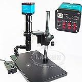 HYY-YY LCD Digital 400X Inspección Zoom Monocular Luz Coaxial C-mount Lens Set +14MP HDMI USB Industria Microscopio Cámara Estéreo Soporte Compatible con PCB SMD