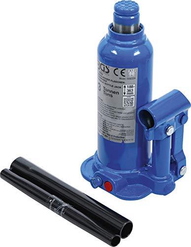BGS 9882 | Hydraulischer Flaschen-Wagenheber | 3 t | Stempelwagenheber / Kompakt-Wagenheber