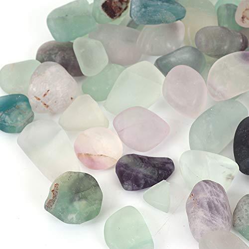 Shiny Stone Pierres décoratives en cristal pour aquarium, gravier de poisson, pierres décoratives pour bricolage, maison, jardin, décoration (fluorite, 12–20 mm)