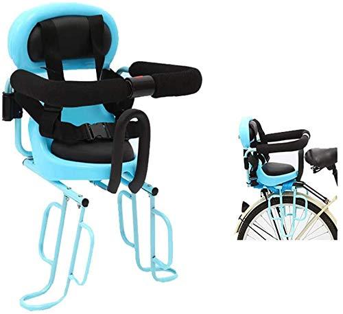 Montaggio Posteriore Seggiolino per Bambini Biciclette con corrimano e pedalare sede della Bici elettrica del Bambino di Sicurezza del Sedile Posteriore Sottosella Cycling Child Seats,Blu