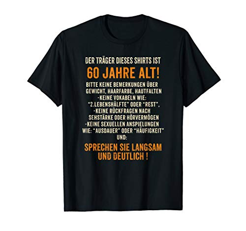 Geschenk zum 60. Geburtstag: Traeger 60 lustiges T-Shirt T-Shirt
