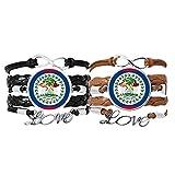 DIYthinker - Pulsera de piel con correa de mano, diseño de bandera de Belice, doble juego de regalo