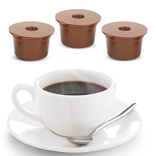 Rehomy Kaffeefilter-Set, 3 Stück, wiederverwendbar, nachfüllbar, Kaffee-Kapsel-Filterbecher, Ersatzzubehör passend für Koffitalien