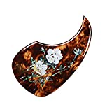Vencetmat Acoustic Guitar Pick Guard for Most Martin - Inlaid Abalone Flower