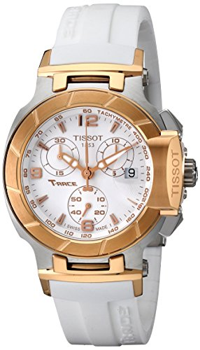 Tissot Damen-Uhren Rund Analog Quarz One Size Silikon 85524836