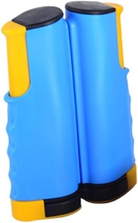 ZzheHou Red De Ping Pong Tabla portátil Pong Net Rack Retreptable Table Tenis Rack Net Rack Anywhere Home Gyms Equipos Equipamientos (Color : Azul, Size : 19.8x13.5cm)